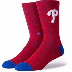 Philadelphia Phillies Sox Scorebook Crew Socks